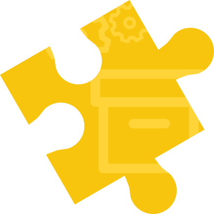 illustration of a yellow puzzle jig representing moving