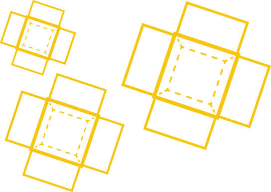 yellow illustration of opened boxes