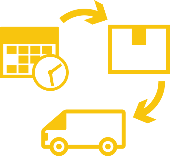 yellow illustration of the relocation process used