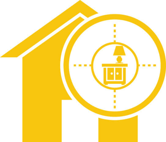 yellow illustration of a house criminal threat security